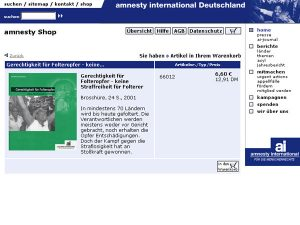 Amnesty International - Online-Shop - Detailansicht